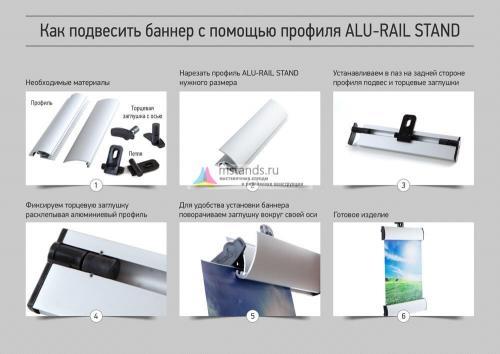 Алюминевый профиль ALU-RAIL STAND для плакатов